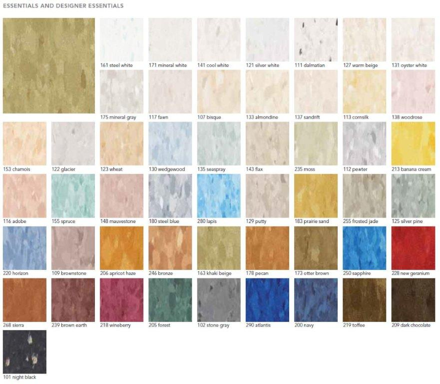 Mannington Vinyl Composition Tile Vct Essentials Colors