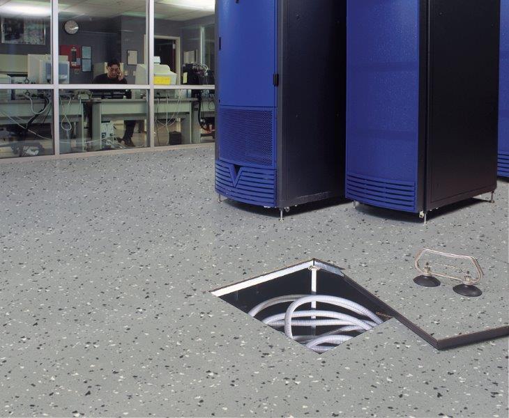 Anti Static Rubber Flooring : Conductive static dissipative rubber sheet sport flooring