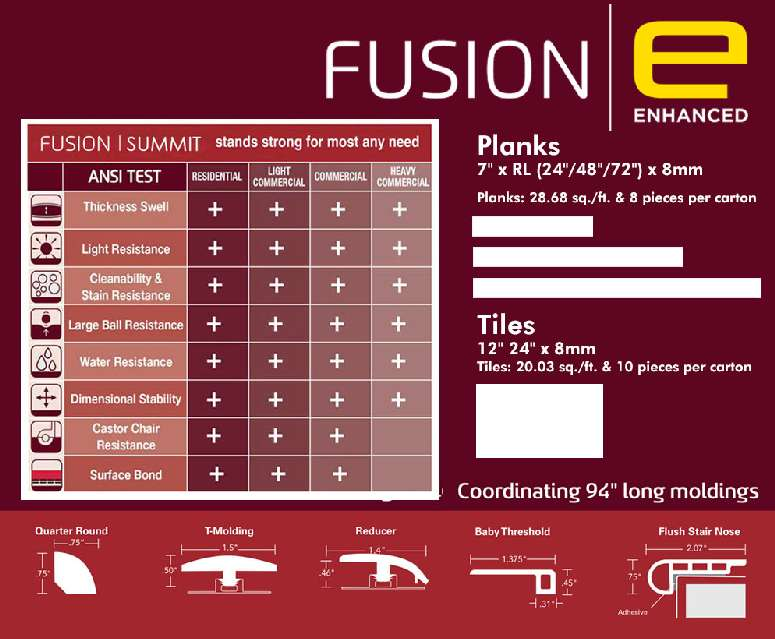 Fusion Hybrid Luxury Vinyl Tile